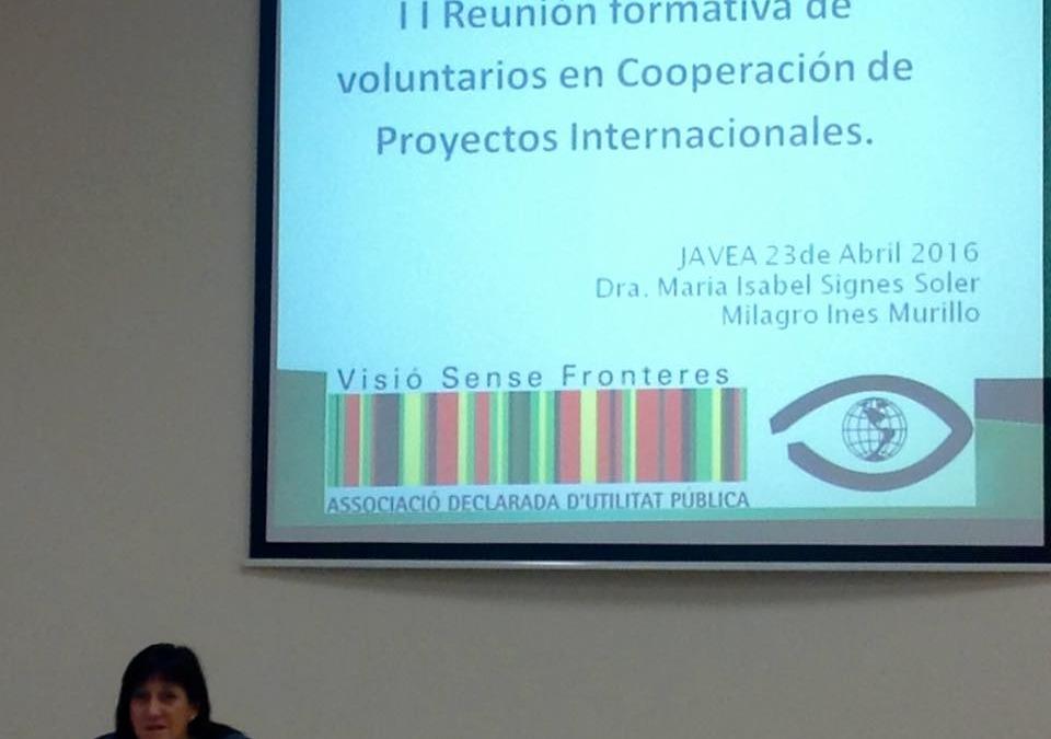 Formación de voluntarios.Xàbia 2016