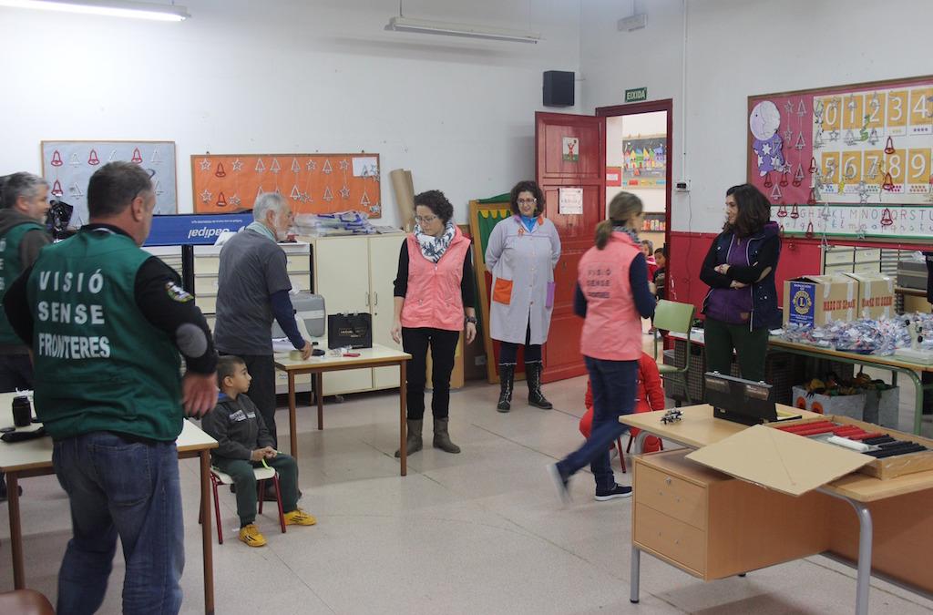 Revisión optométrica en el CEIP Les Arenes. El Cabanyal. Valencia