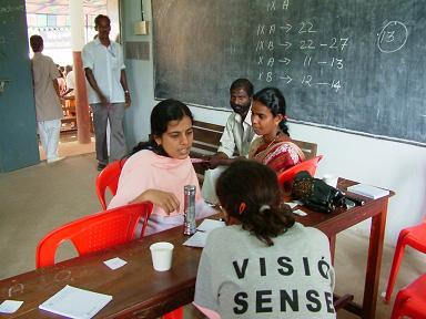 Toma de agudeza visual en campaña India