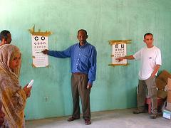 Toma de agudeza visual. Mauritania