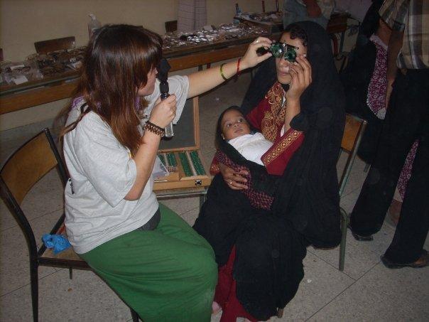 Revisión optométrica en Marruecos. Teresa Sanchez